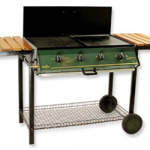 4 Burner Metal Frame Barbeque with Lid