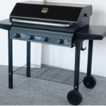 4 Burner Metal Frame Barbeque with Hood
