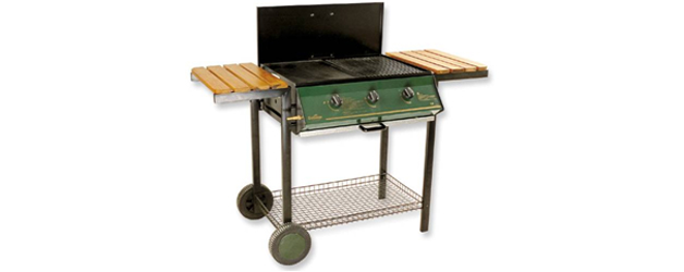 3 Burner Metal Frame Barbeque with Lid