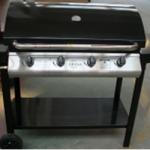 4 Burner Metal Frame Barbeque with Hood